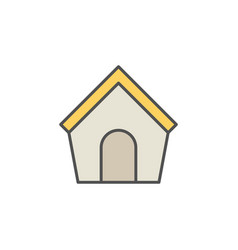 Doghouse colorful icon vector