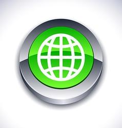 Earth 3d button vector