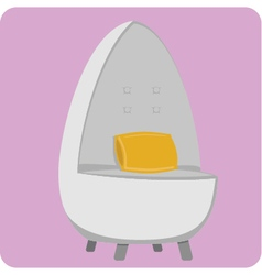 Egg chair vector