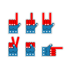 foam finger usa patriot american sports symbol vector image vector image