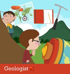 Geologist occupation vector