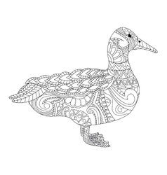 Goose coloring for adults vector image