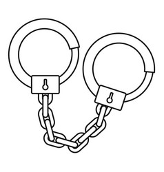 Handcuffs icon outline style vector