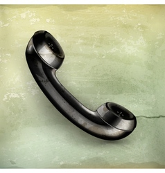 Handset old-style vector image