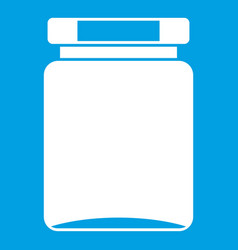 jar icon white vector image
