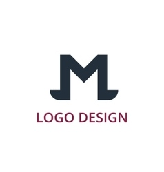 letter logo m vector image
