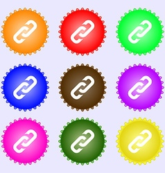 Link icon sign big set of colorful diverse vector