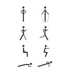 minimalistic people vector image vector image