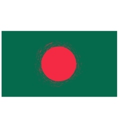 National Flag of Bangladesh Isolated vector image