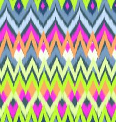 neon ikat print vector image