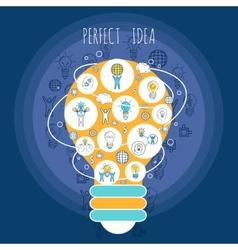 Perfect idea poster vector image
