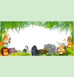 postcard with wild african animals vector image vector image
