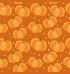 pumpkin seamless pattern gourd endless vector image vector image