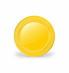 realistic gold coin 3d vector image