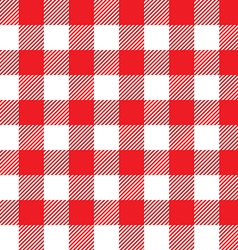 Red tablecloth background seamless pattern vector