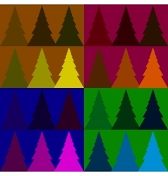 Seamless pattern colorful fir forest vector image vector image