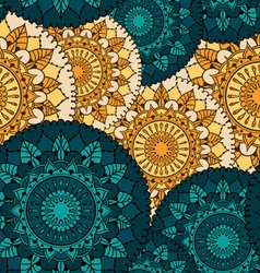 Seamless pattern with circular floral ornaments vector image
