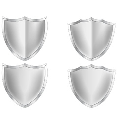 Silver shield collection vector