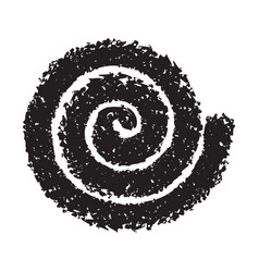 spiral symbol hand painted with crayon vector image