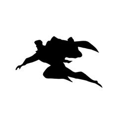 Superhero man silhouette vector image