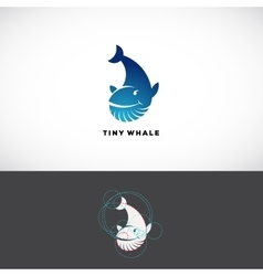 Tiny Whale Abstract Logo Template Flat vector image vector image