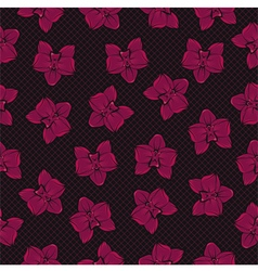 Tropical orchid pattern vector