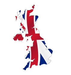 united kingdom map filled with great britain color vector image