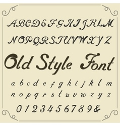 Vintage alphabet hand drawn font vector