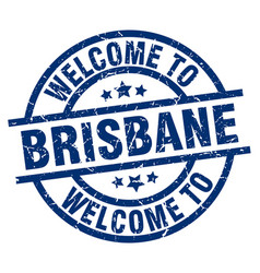 Welcome to brisbane blue stamp vector