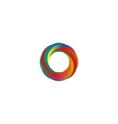 Abstract colored segments circle logo mockup idea vector