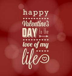 Happy valentine card vector