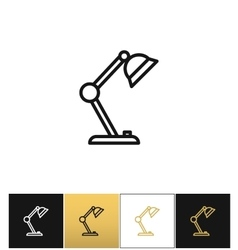 Table lamp sign or desk office lamps icon vector