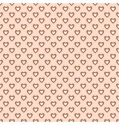 Seamless pattern with hearts in retro style vector image