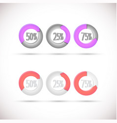 Round diagrams vector