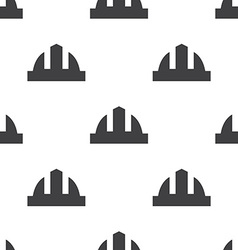 Construction helmet seamless pattern vector