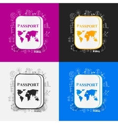 Drawing business formulas passport vector