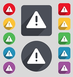 Exclamation mark attention caution icon sign a set vector