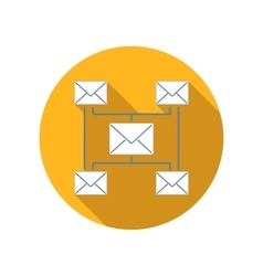 Incoming and outgoing messages flat icon vector
