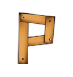 wooden type p vector image