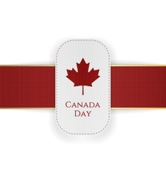 Canada day paper banner with red ribbon vector