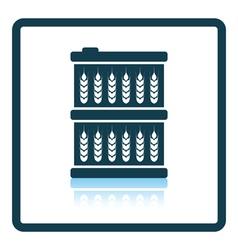 Barrel with wheat symbols icon vector image vector image