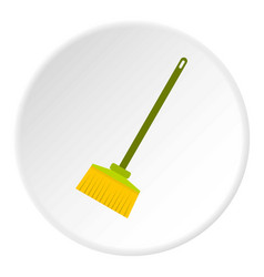 Broom icon circle vector