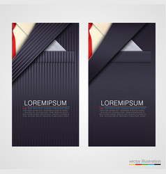 business cards with suit vector image vector image