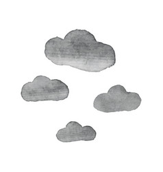 Cloud watercolor design elements vector
