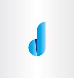 d letter gradient blue icon logo vector image
