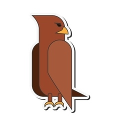 Eagle cartoon icon vector
