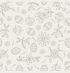 easter season seamless pattern background vector image