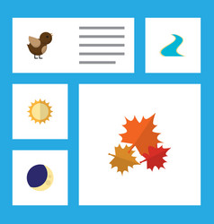 Flat icon ecology set of tributary solar vector