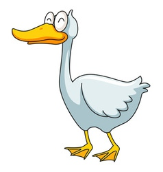 Funny ducky vector image vector image