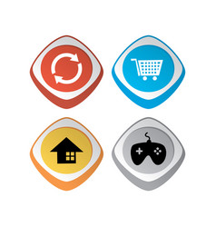 Glossy color app icon button game asset theme set vector